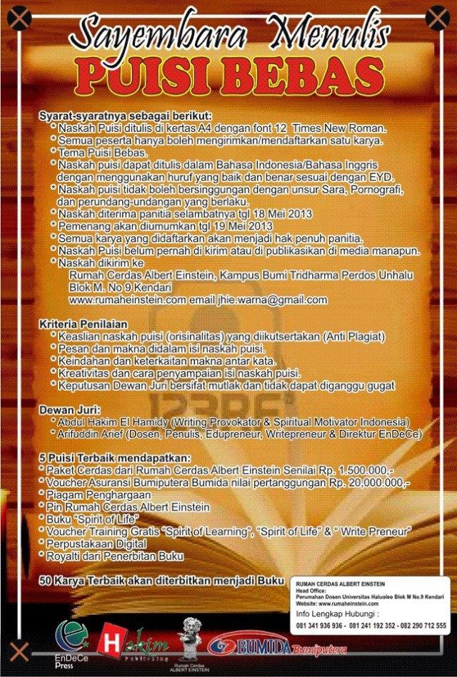Event Puisi Bebas